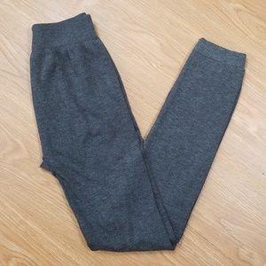 Grey Fleece Lined Leggings B3